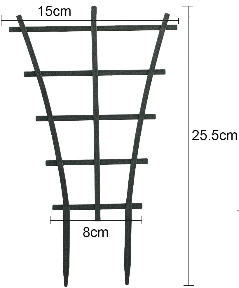 SANGDA Garden Plant Climbing Trellis,12 Pcs Potted Plant Growing Support Diy Plant Climbing Frame Wire Lattices Grid Panels Trellis Netting For Ivy Roses Cucumbers Clematis Pots