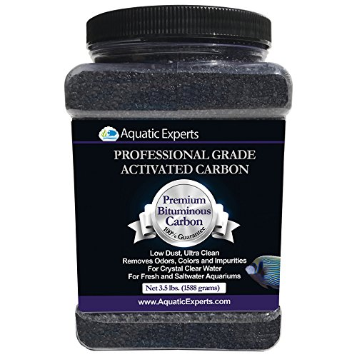 Aquatic Experts Premium Activated Carbon - Aquarium Filter Charcoal Media with Fine Mesh Bag - 3.5 lbs - Remove Odors and Discoloration with Bituminous Coal