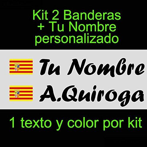 Vinilin - Pegatina Vinilo Bandera Aragon + tu Nombre - Bici, Casco, Pala De Padel, Monopatin, Coche, etc. Kit de Dos Vinilos (Negro): Amazon.es: Coche y ...