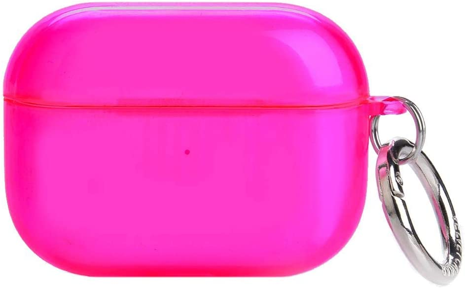 Velvet Caviar Neon Pink AirPod Pro Case Cute Cover for Girls, Women with Keychain - Cool Protective Hard Cases Compatible with Apple AirPods Pro (Hot Pink)