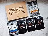 Carnivore Club Gift Box - Jerky & Meat Sticks Sampler - Christmas Gift - 4 to 6 Meat Snacks - Great Gift For Men & Women - Comes in Premium Gift Box - Birthday
