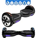 NHT 6.5' Hoverboard Electric Self Balancing Scooter Sidelights - UL2272 (Black)
