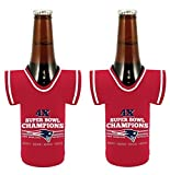 New England Patriots 4X Super Bowl Champions NFL Commerative Bottle Jersey Koozie Holder 2-Pack