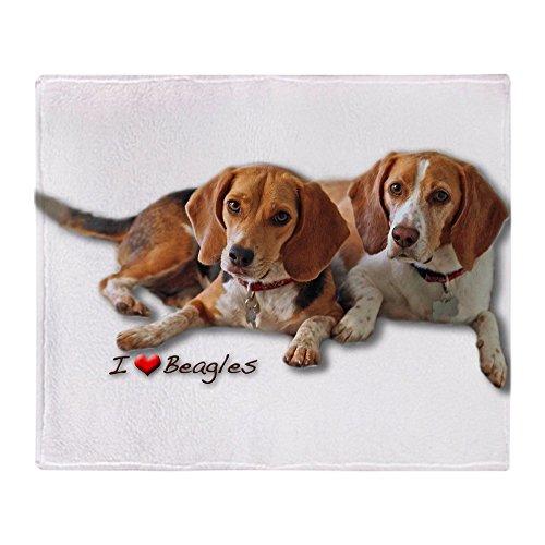 "CafePress Two Beagles Soft Fleece Throw Blanket, 50""x60"" Stadium Blanket"