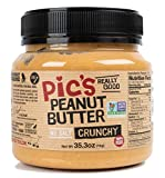 Pic's Crunchy Peanut Butter, No Salt (35.3oz) Made in New Zealand with All Natural Non GMO Peanuts, No Added Sugar, Delicious Gourmet Chunky Texture, Healthy Source of Protein, Vegan Friendly