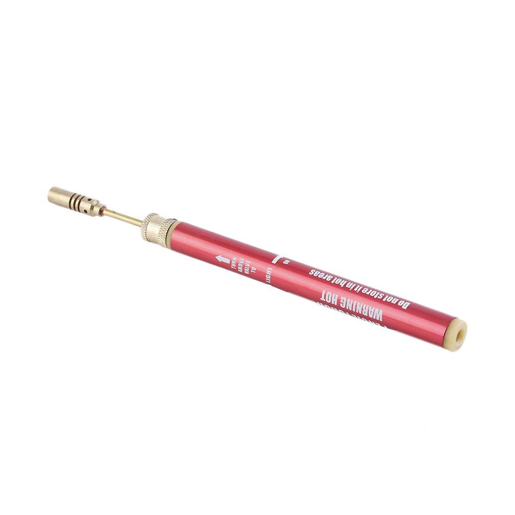 Mini-chalumeau /à gaz rose Souder /à souder Fer /à souder sans fil Stylo-br/ûleur Chalumeau Tubane Couleur: rose