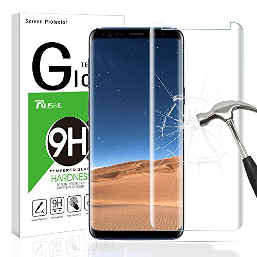 Galaxy S9 Screen Protector,Rusee 9H 3D Hardness Full Coverage Galaxy S9 Glass Screen protector Anti-Scratch Anti-fingerprint Bubble Free Tempered Glass Screen Protector for Samsung Galaxy S9