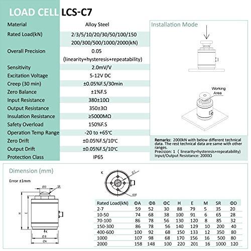 Load cell sensor pull pressure sensor Weighing sensor LCS-C7