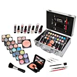 Jumbl Carry All Trunk Makeup Kit with Reusable Aluminum Case, Holiday Set No. 1