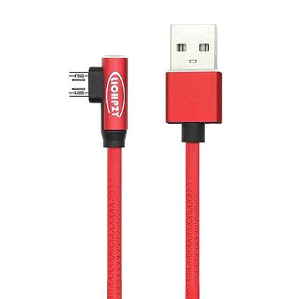 Amazon.com: lichpzy Mirco Cable USB 2.4 A cobre puro rápido ...