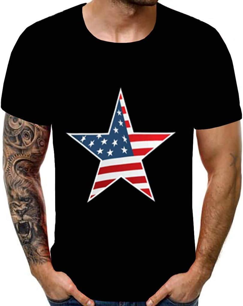 Toponly playera para hombre, estilo vintage, con la bandera de los Estados Unidos, impresión 3D, manga corta, camiseta patriótica, para el día de la independencia: Amazon.es: Hogar