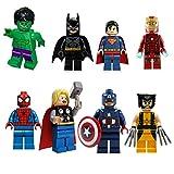 The Avengers Marvel DC Super Heroes Series 8 Pcs Set Minifigures Building Blocks
