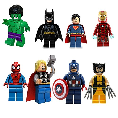 The Avengers Marvel DC Super Heroes Series 8 Pcs Set Minifigures Building Toys New Kids Gift