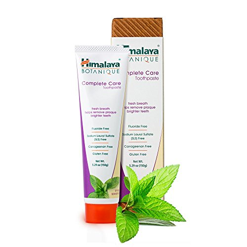 Himalaya Complete Care Toothpaste – Simply Spearmint 5.29 oz/150 gm (1 Pack) Natural, Fluoride-Free & SLS Free