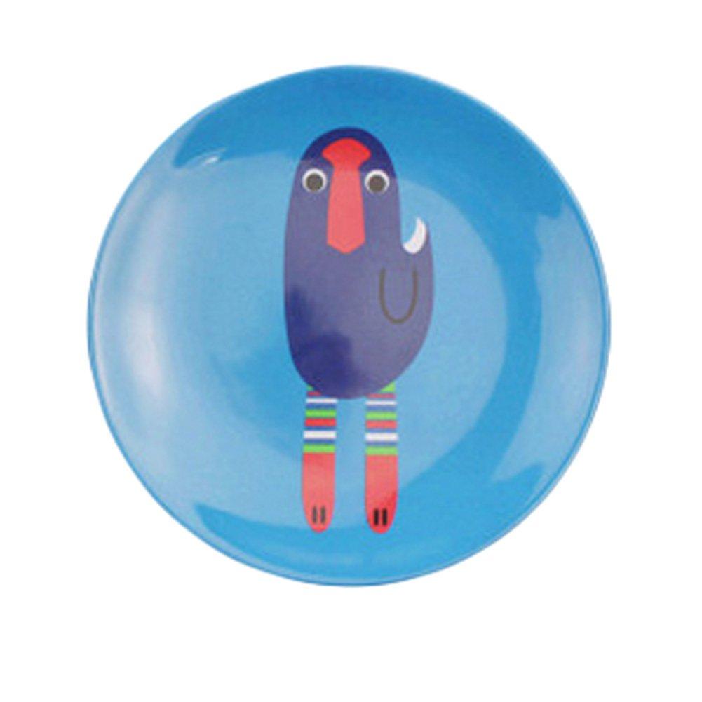 Kylin Express Kids Fashion Creative Plate Break-resistant Melamine Animals Dishes (Blue Bird