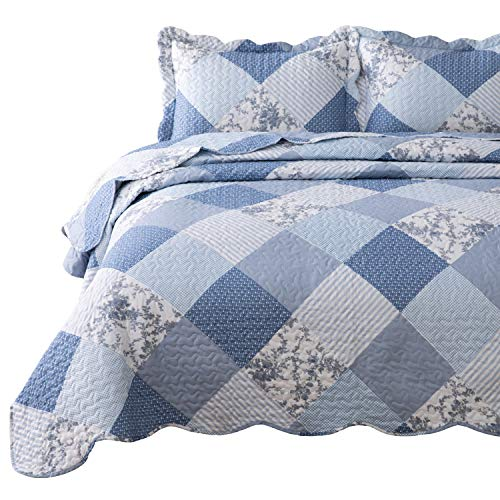 Bedsure 3-Piece Printed Quilt Set King Size (106