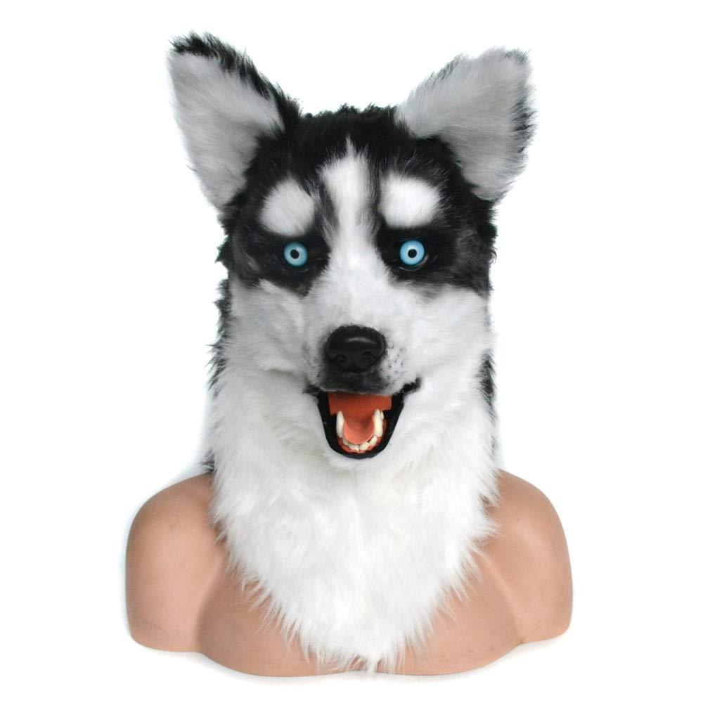 Festa delle Maschere XIANGBAO Maschera Animale realistica Fatta a Mano realistica Fatta a Mano su Misura della Maschera della Bocca commovente della Mascotte del Movimento