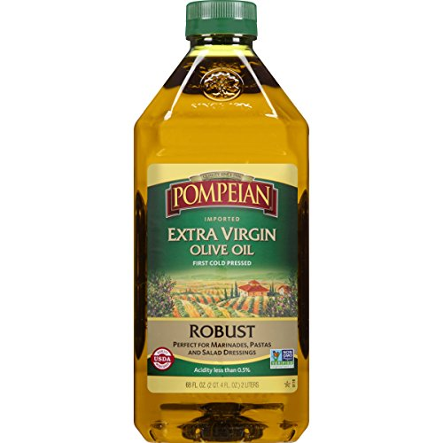 Pompeian Robust Extra Virgin Olive Oil, First Cold Pressed, Low Acidity, 68 ()