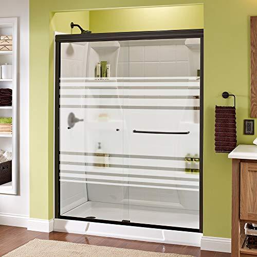 Delta Shower Doors SD3956982 Classic Semi-Frameless Traditional Sliding Shower, 60