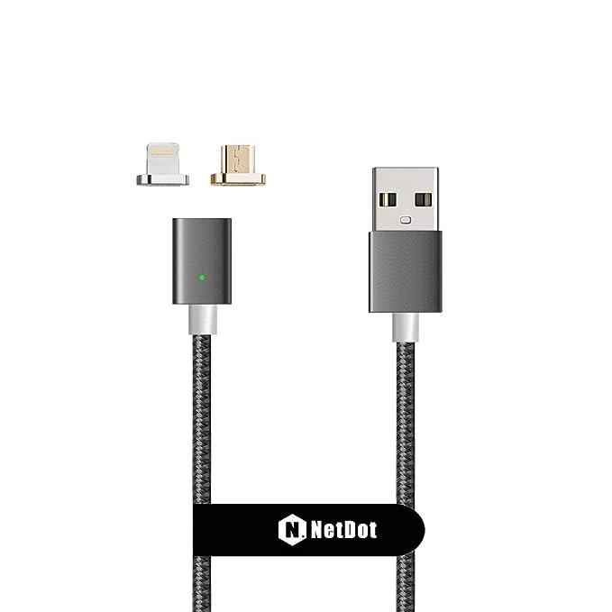117 opinioni per NetDot Cavo di Ricarica Magnetica Intrecciata in Nylon USB 2.0 di Gen3 con 1 iOS