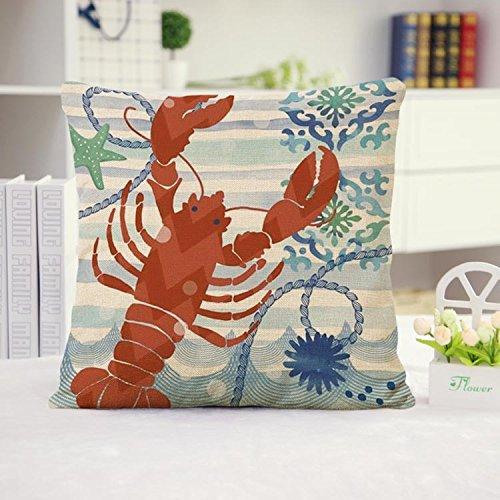 Ocean-Park-Theme-Throw-Pillow-Case-Huacel-Sea-Turtle-Octopus-Fishes-Retro-Cotton-Linen-Square-Throw-Pillow-Case-Decorative-Cushion-Cover-Pillowcase-Blue-Ocean-Series-Sea-Life-18x18-Inch