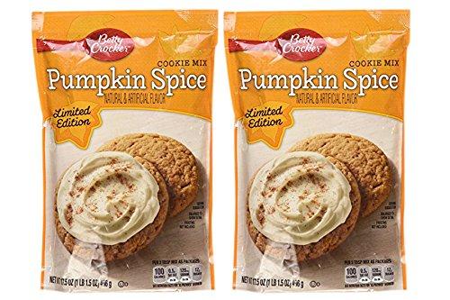 Betty Crocker Pumpkin Spice Cookie Mix, 18 Ounce, 2 Pack, Limited Edition