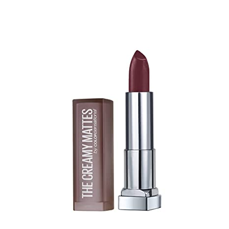 1be48cd5aab Buy Maybelline New York Color Sensational Creamy Matte Lipstick, 696  Burgundy Blush, 3.9g Online at Low Prices in India - Amazon.in