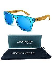 Kids Wayfarer Beech Wood Polarized Sunglasses by Wildwood - 4 to 8 years