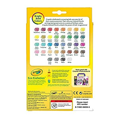 Colored Pencils Set for Adult Coloring Books or Kids 4 and Up, 36 Premium Quality (2 Pack): Office Products