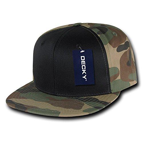 DECKY Camo Cotton Snapback, (Camouflage Crown Cap)