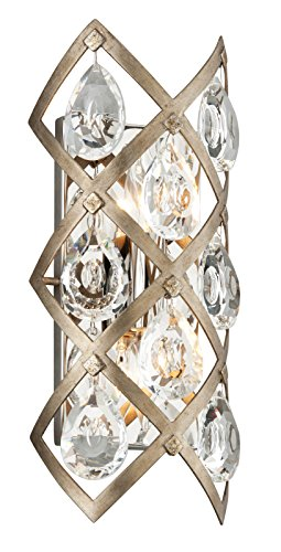 Corbett Lighting Bronze (Corbett Lighting 214-12 Tiara 2-Light Wall Sconce with Clear Crystal Drops, Vienna Bronze)