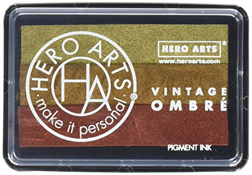 Hero Arts Ombre Ink Pad-Vintage Metallic - Metallic Pad Stamp Colorbox