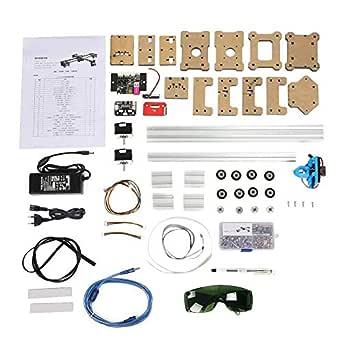 Máquina de dibujo, Robot de dibujo de 100-240VA DIY, Pluma de trazador XY de escritorio de 2 ejes ensamblada XY Robot de dibujo Kit de robot de escritura a mano de pintura(EU):
