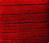 Realeather Cranberry Suede Leather Lace