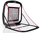 Spornia Baseball/Softball Practice Net (5' x 5') with Ball Return, Strike Zone-Sock Net Pitching Target (3 in 1 Bundle)
