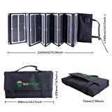 SUNKINGDOM newest and highest effiency 80Watt portable Folding Solar Panel Charger with fluorescence and Dual voltage controller with wide application for laptop,phone, battery for outdoor Reviews