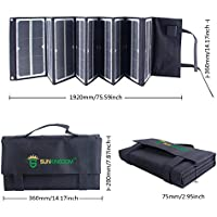 SUNKINGDOM newest and highest effiency 80Watt portable Folding Solar Panel Charger with fluorescence and Dual voltage controller with wide application for laptop,phone, battery for outdoor