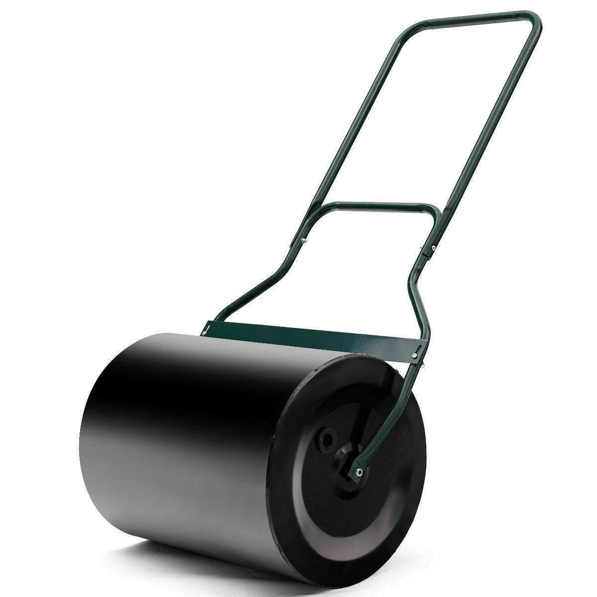 NanaPluz Tow Lawn Garden Roller Poly Push 16''x 19.5'' with Ebook