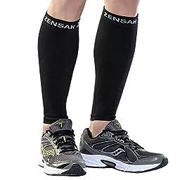 Zensah  Compression Leg Sleeves, Black, X-Small/Small