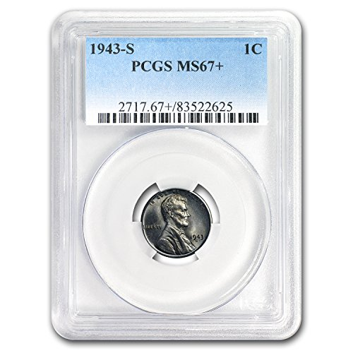1943 S Lincoln Cent MS-67+ PCGS Cent MS-67 PCGS