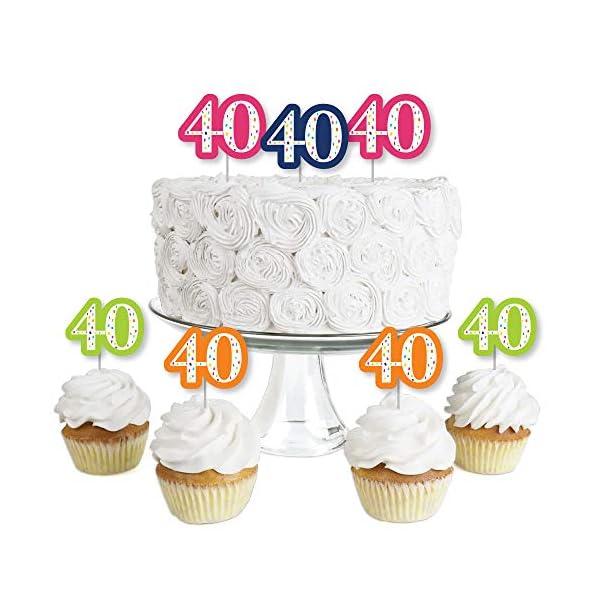 Outstanding 40Th Birthday Cheerful Happy Birthday Dessert Cupcake Toppers Funny Birthday Cards Online Elaedamsfinfo