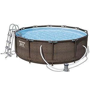 Bestway 56709 piscina fuori terra Piscina con bordi Piscina rotonda 9150 L Marrone 51H SQsa0fL. SS300