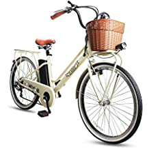 NAKTO Electric Bikes for Men and Woman 26'' Electric Bicycle Comes a Detachable 36V 10Ah Lithium Battery & Battery Charger