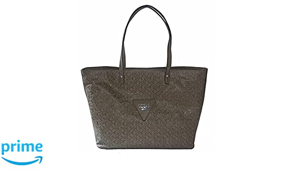 Amazon.com: GUESS Signature Embossed Liberate Tote Bag Handbag Purse Taupe: Shoes