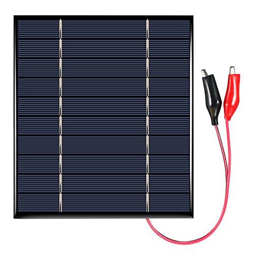 Galapara Módulo de Panel Solar policristalino, 2.5W 5V, con la célula Solar de los Clips de cocodrilo para el Cargador…