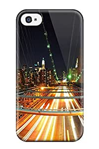 4/4s Scratch-proof Protection Hot New York Nights Phone Case