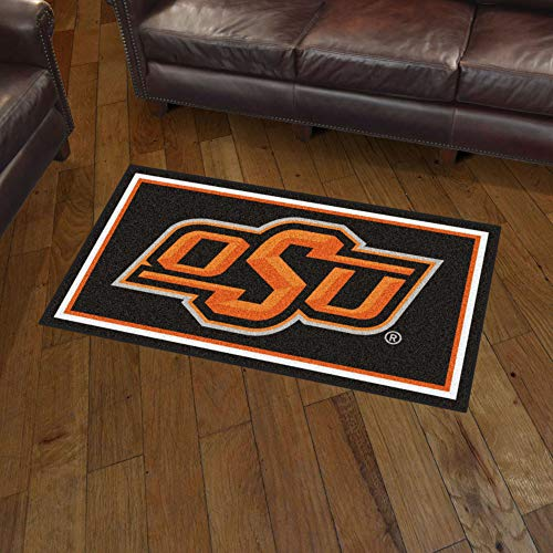 NCAA Oklahoma State Cowboys 3 Ft. x 5 Ft. Area RUG3 Ft. x 5 Ft. Area Rug, Black, 3' x 5'