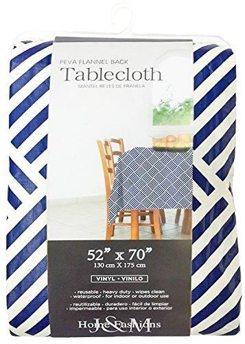 Home Fashions Navy Vinyl Tablecloth
