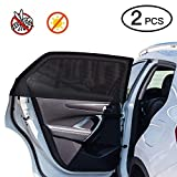 Car Window Shade,2 Pack Super Stretchy Mesh Car Sun Shade for Rear Side Window, Block 97% Harmful UV, Anti-Mosquito