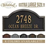 "Personalized Cast Metal Address plaque - The Providence Arch (Large Option, 22.5"" wide) . Display your address and street name. Custom house number sign."